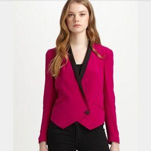 Rebecca Minkoff Fuschia Becky Blazer Jacket
